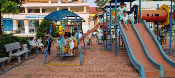 Trẻ mầm non là trung tâm của hoạt động